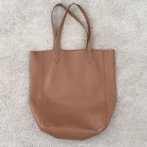 Cuyana tall leather tote bag